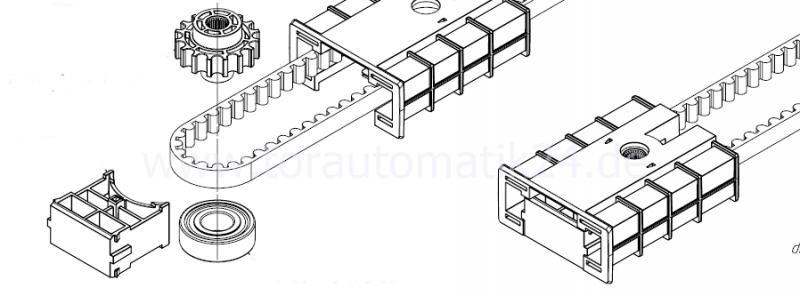 Antriebsritzel C-Profil, Zahnriemen tormattic Novoferm