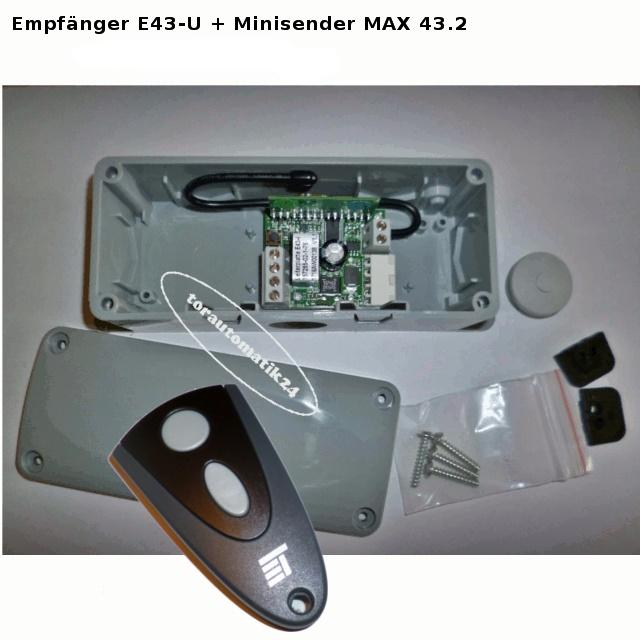 E43-U Empfänger, MAX 43-2 Handsender Novoferm tormatic