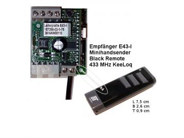 Empfänger E43-I, Black Remote Handsender 433MHz Novoferm tormatic