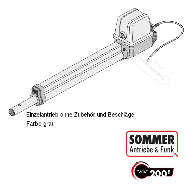 Sommer twist 200 E Ersatzantrieb grau