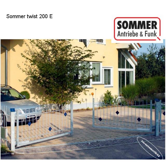 Sommer twist 200 EL Drehtorantrieb-Set 2-flügelig