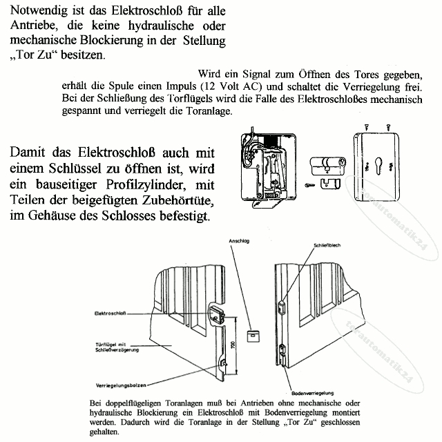 Universal Elektroschloss SV