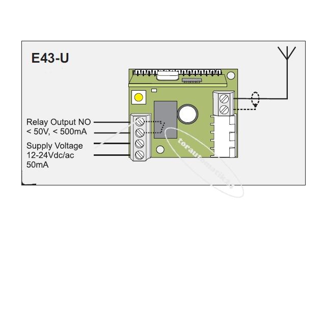 tormatic Empfänger E 43-U 433MHz Novoferm