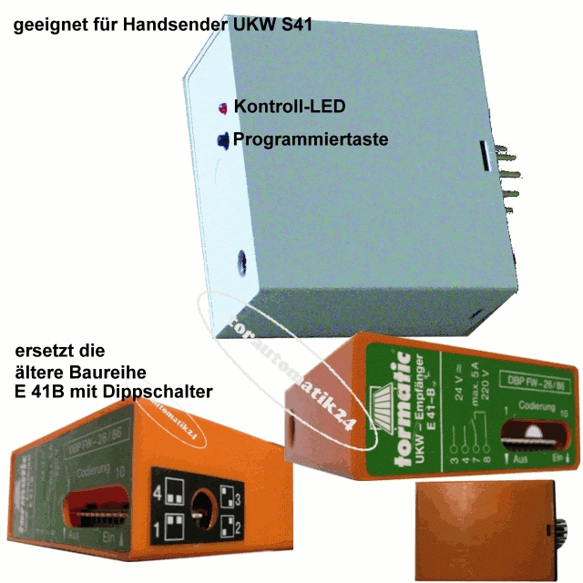 tormatic Funkempfänger E41-B Dorma UKW 40,685MHz